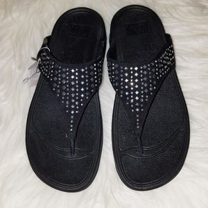 Fitflop black studded thongs new with tags 10